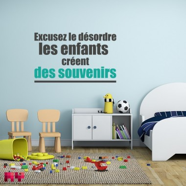 Sticker Excusez le désordre