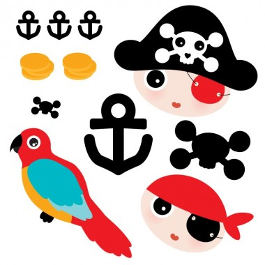 Sticker Pirate quadrichromie